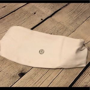 Lululemon white head band
